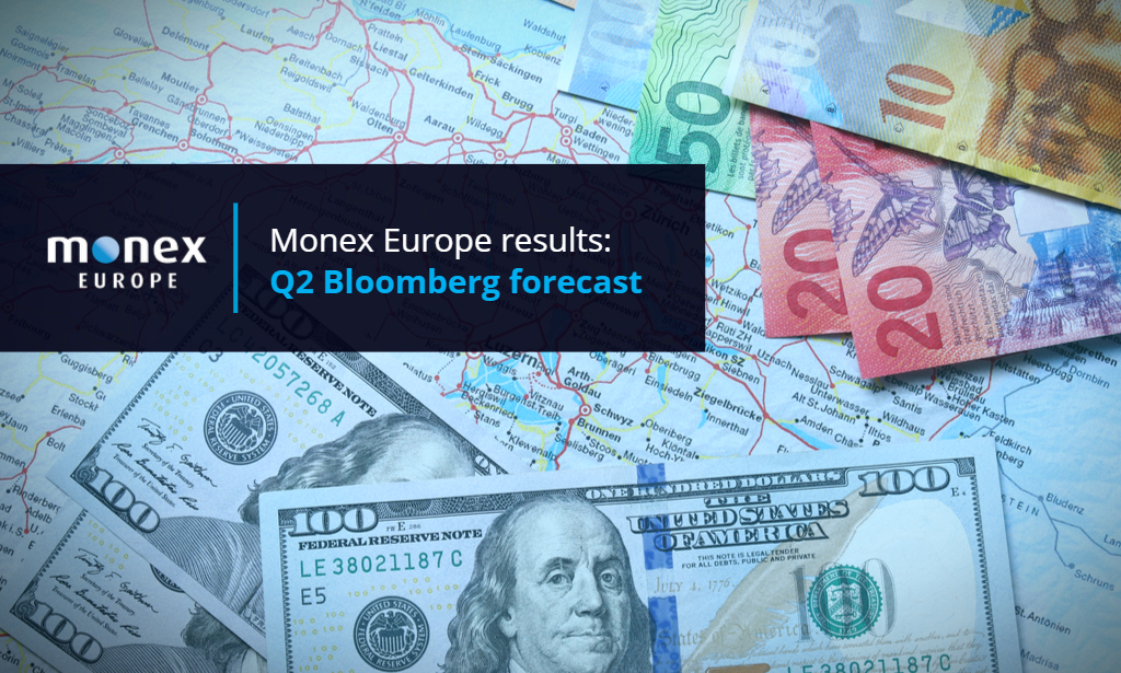 MONEX RANKS HIGH IN Q2 BLOOMBERG FORECAST