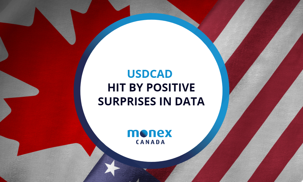 USDCAD hit by positive surprises in data