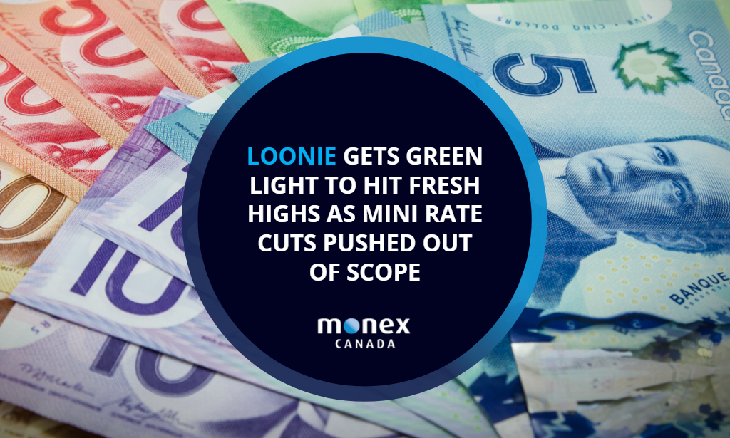 Loonie gets green light to hit fresh highs as mini rate cuts pushed out of scope