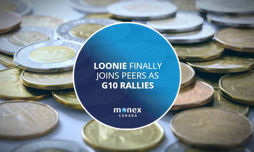 Loonie finally joins peers as G10 rallies