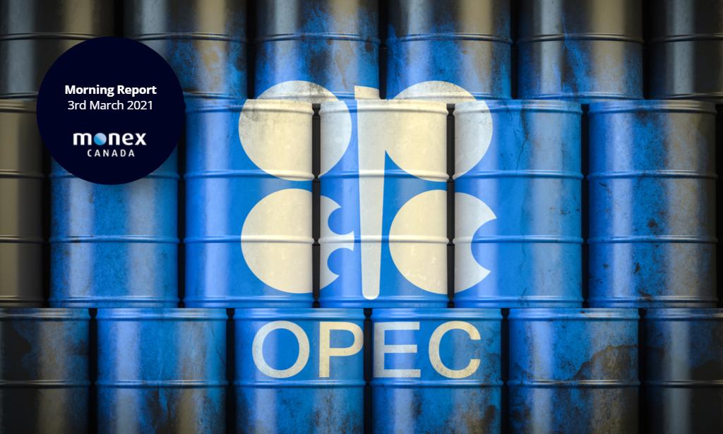 CAD not providing any fireworks ahead of tomorrow's OPEC+ meeting