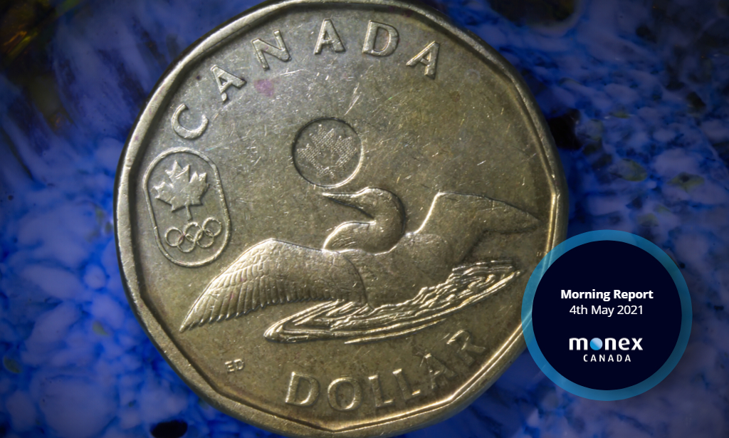 Loonie joins unwind in cyclical currencies as the greenback starts May on a firmer footing