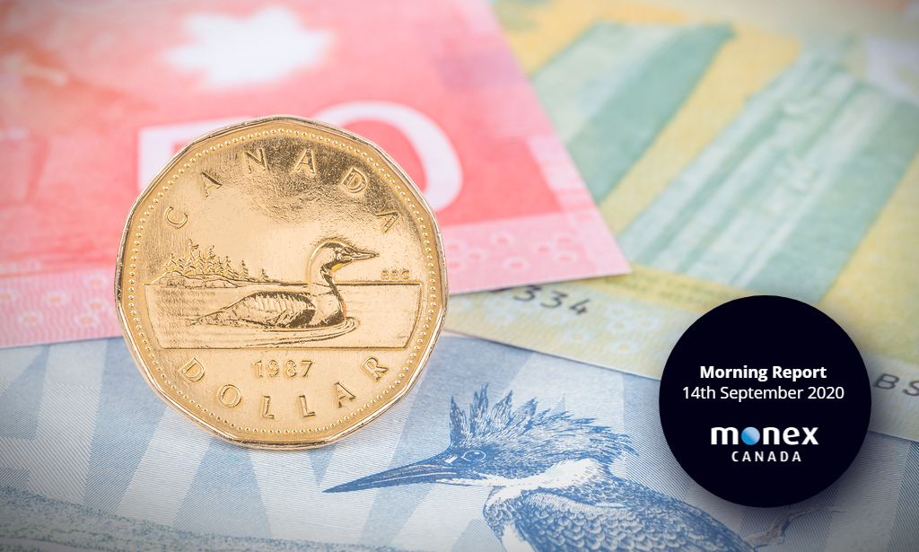 Loonie looks towards busy Wednesday for direction