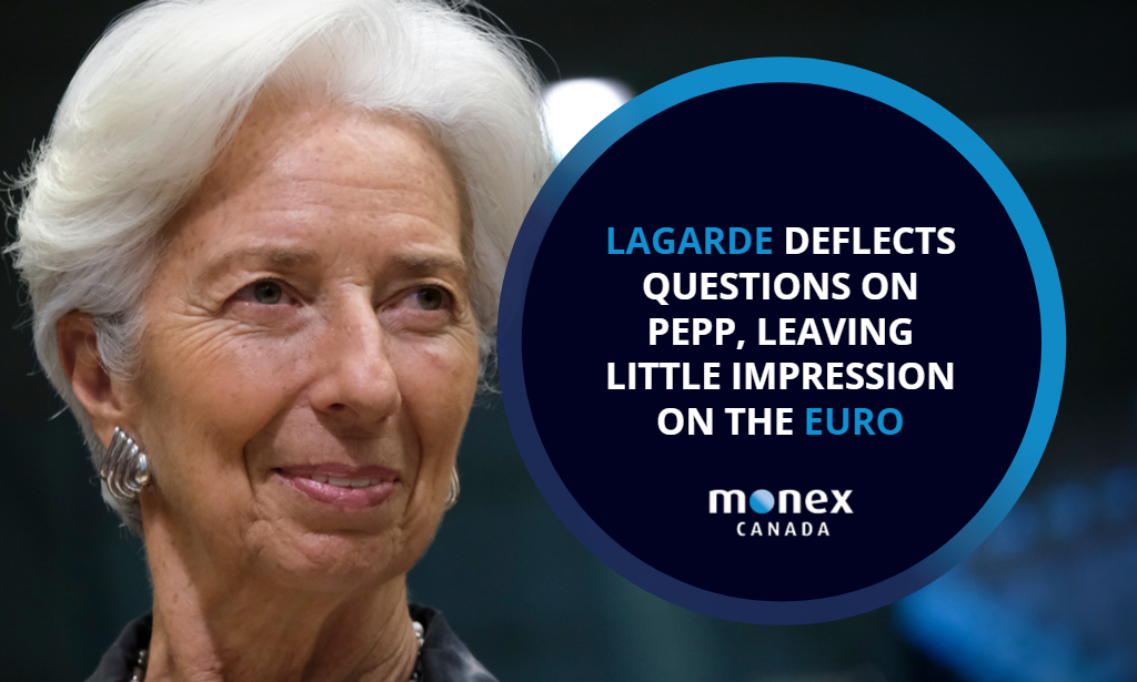 Lagarde deflects questions on PEPP, leaving little impression on the euro