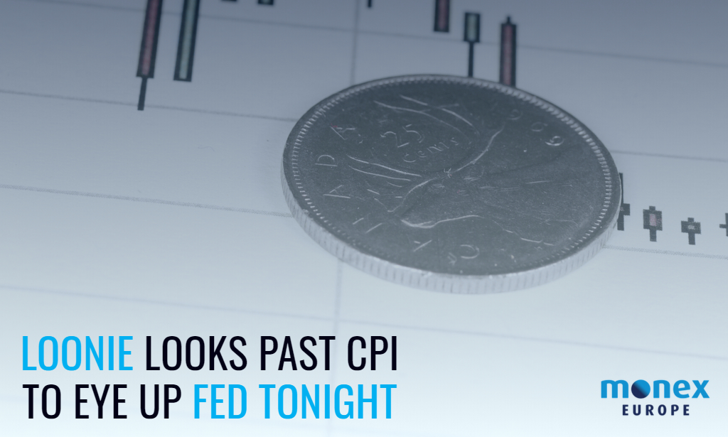 Loonie looks past CPI to eye up Fed tonight