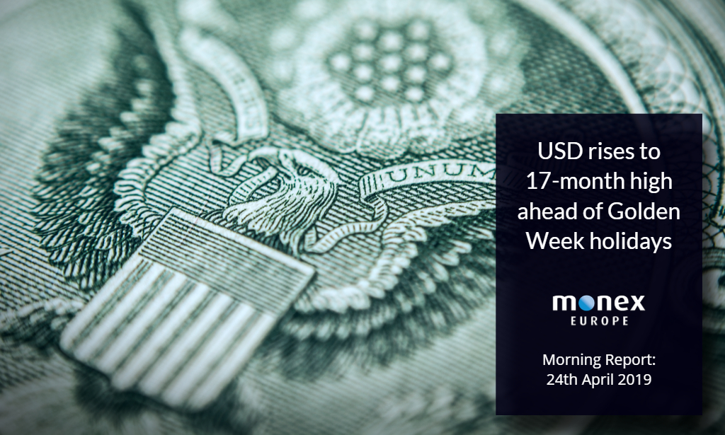 USD rises to 17-month high ahead of Golden Week holidays