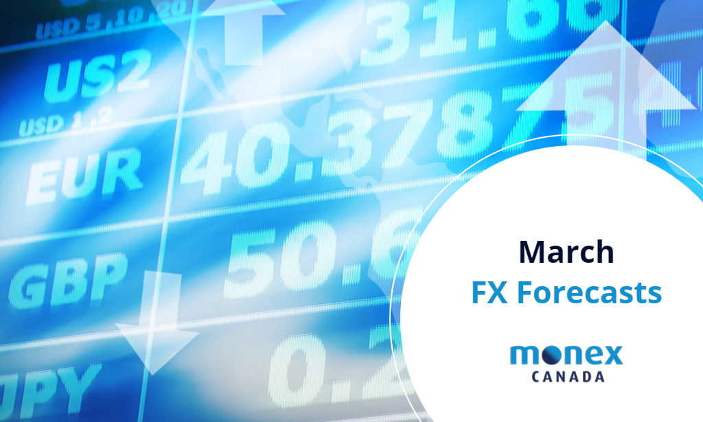 Monex Canada March 2021 FX Forecasts