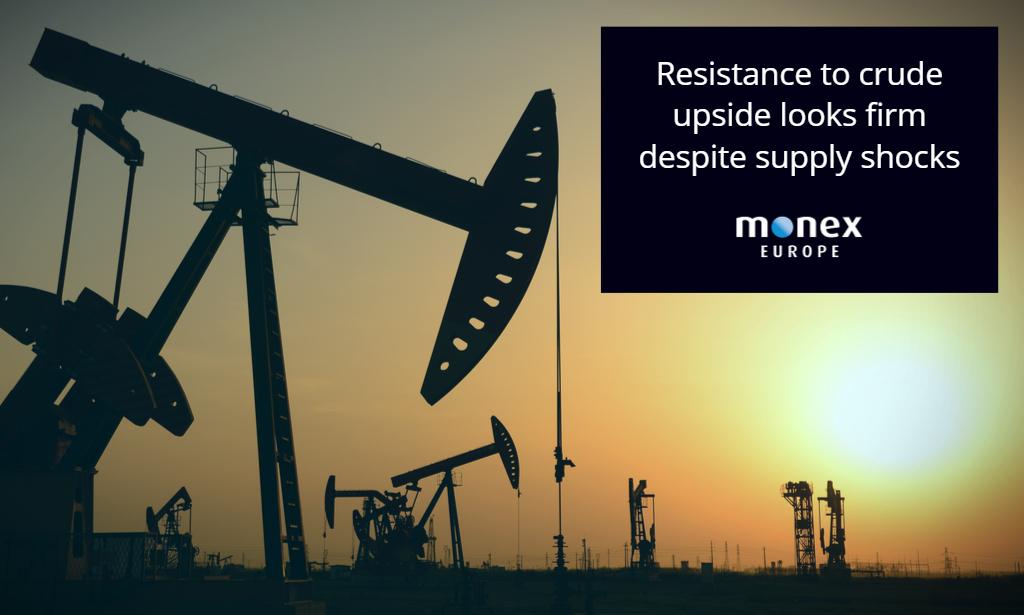 Resistance to crude upside looks firm despite supply shocks